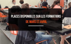 PLACES DISPONIBLES SUR LES FORMATIONS DE MARS ET AVRIL